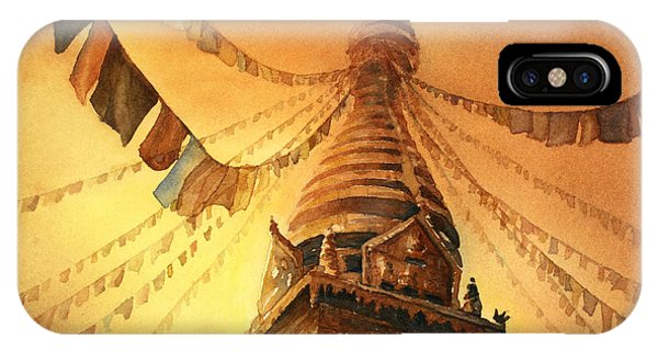 Buddhist Stupa- Nepal IPhone Case