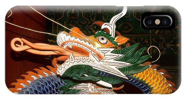Buddhist Temple Sculpture - Korean Dragon IPhone Case