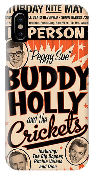 Weapons iPhone Case - Buddy Holly by Gary Grayson