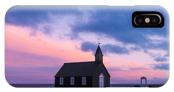 Budir Black Church IPhone Case