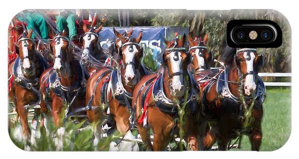 Budweiser Clydesdales Perfection IPhone Case