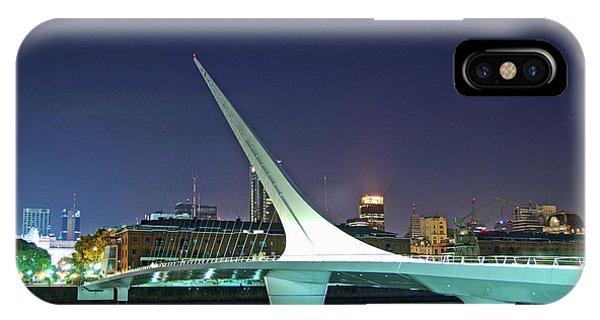 Buenos Aires - Argentina - Puente De La Mujer At Night IPhone Case