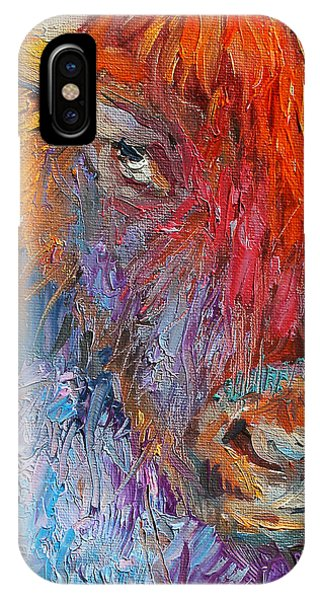 Buffalo Bison Wild Life Oil Painting Print IPhone Case