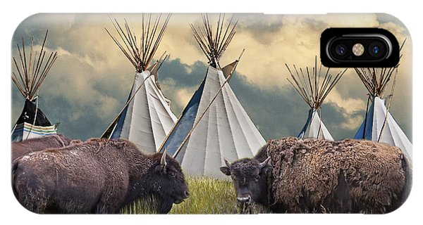 Buffalo Herd On The Reservation IPhone Case