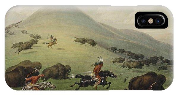Buffalo Hunt IPhone Case