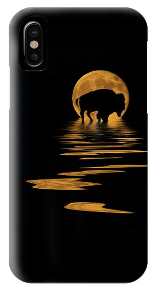 Buffalo In The Moonlight IPhone Case