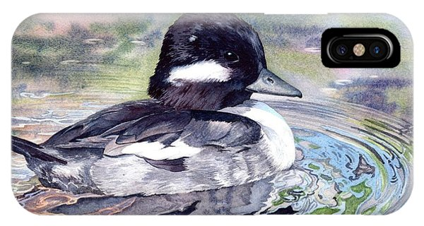 Bufflehead Duck Phone Case by Lorraine Watry