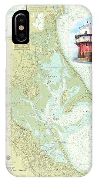 Bug Light On A Noaa Chart IPhone Case