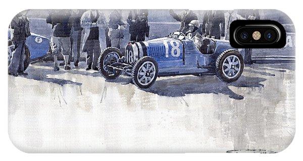 Bugatti 35c Monaco Gp 1930 Louis Chiron  IPhone Case