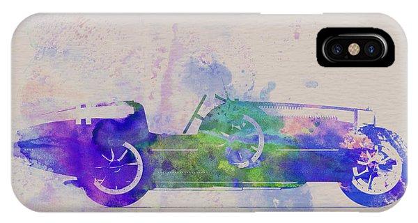 Bugatti Type 35 R Watercolor 2 IPhone Case