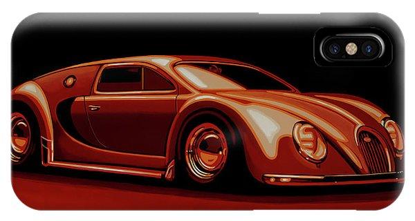 Oldtimer iPhone Case - Bugatti Veyron 'beetgatti' 1945 Painting by Paul Meijering