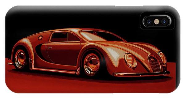 Beetle iPhone Case - Bugatti Veyron 'beetgatti' 1945 Painting by Paul Meijering