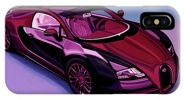 Oldtimer iPhone Case - Bugatti Veyron 2005 Painting by Paul Meijering