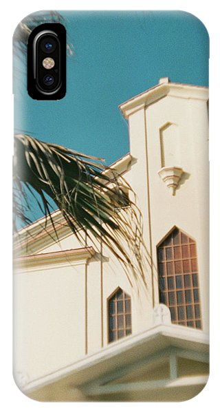 Building Behind Palm Tree In Ostia, Rome IPhone Case