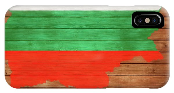 Traveler iPhone Case - Bulgaria Rustic Map On Wood by Dan Sproul