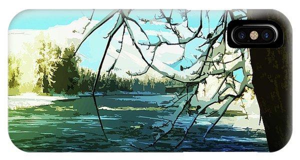 Bulkley River, Dead Of Winter IPhone Case