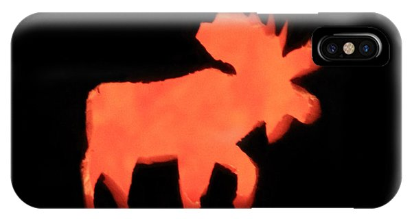 Bull Moose Pumpkin IPhone Case