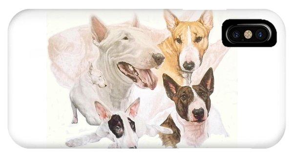 Bull Terrier Medley IPhone Case