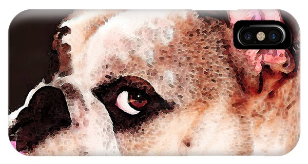 Bulldog Art - Let's Play IPhone Case