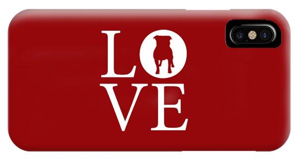 Bulldog Love Red IPhone Case