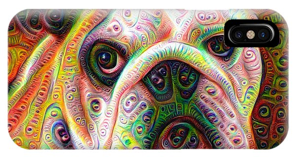 Bulldog Surreal Deep Dream Image IPhone Case