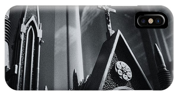 IPhone Case featuring the photograph Bullet Church by Lora Lee Chapman