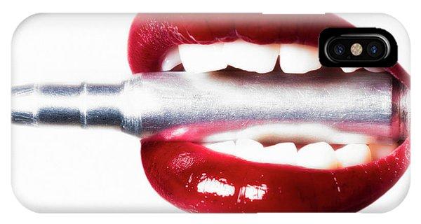 Scarlet iPhone Case - Bullet Lips by Erik Brede