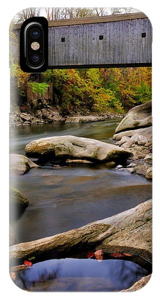 Bulls Bridge - Autumn Scene IPhone Case
