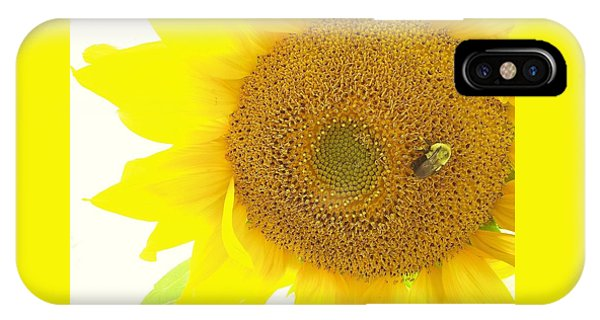 Bumble Bee Sunflower IPhone Case