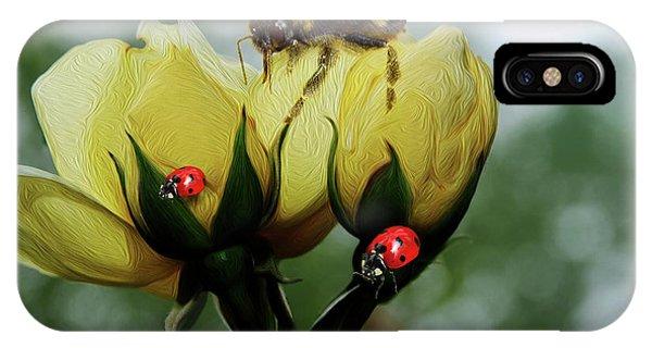 Bumblebee Flower IPhone Case
