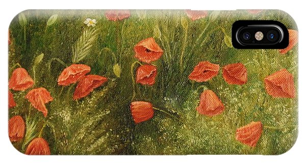 Bunch Of Poppies IPhone Case
