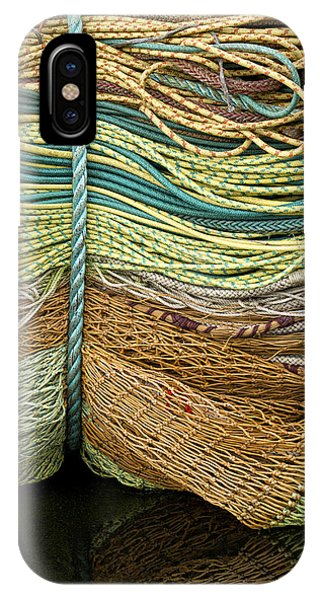 Rectangle iPhone Case - Bundle Of Fishing Nets And Ropes by Carol Leigh