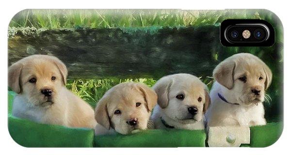 Bundles Of Joy - Labrador Art IPhone Case