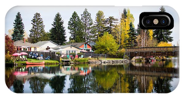 bungalows on the Deschutes IPhone Case