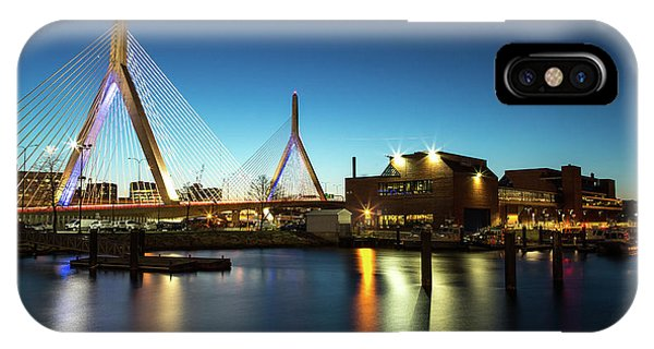Zakim Bridge iPhone Case - Bunker Hill Memorial Bridge by Walt Baker