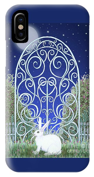 Bunny, Gate And Moon IPhone Case