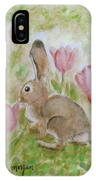 Bunny In The Tulips IPhone Case