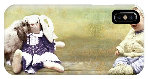 Bunny Kisses Doll IPhone Case