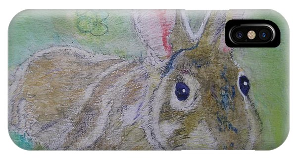 bunny named Rocket IPhone Case