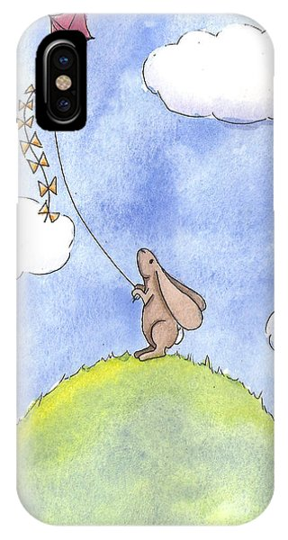 Bunny With A Kite IPhone Case