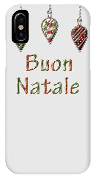 Buon Natale Italian Merry Christmas IPhone Case