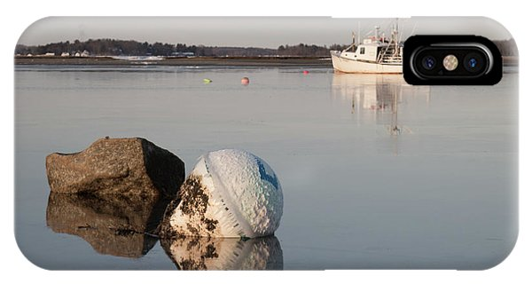 IPhone Case featuring the photograph Buoy Reflection by Kirkodd Photography Of New England