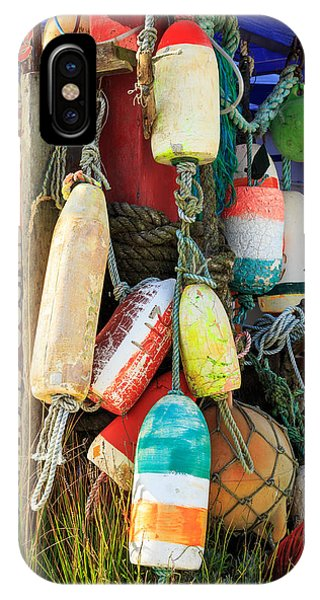 Buoys At The Crab Shack IPhone Case