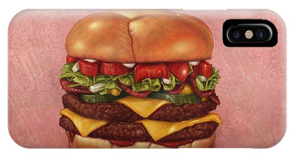 Tomato iPhone Case - Burger by James W Johnson