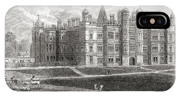 Stamford iPhone Case - Burghley House, Stamford, England In by Vintage Design Pics