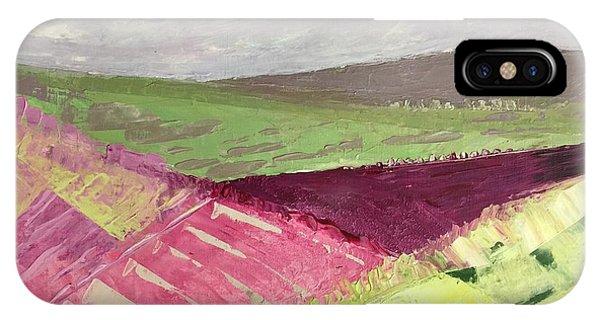 Burgundy Fields IPhone Case