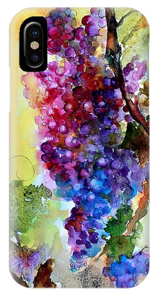 Wine Grapes Burgundy In Sunlight IPhone Case