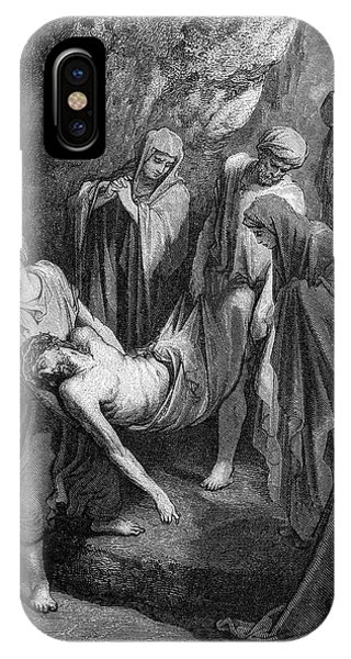 Mary Mother Of God iPhone Case - Burial Of Jesus by Gustave Dore