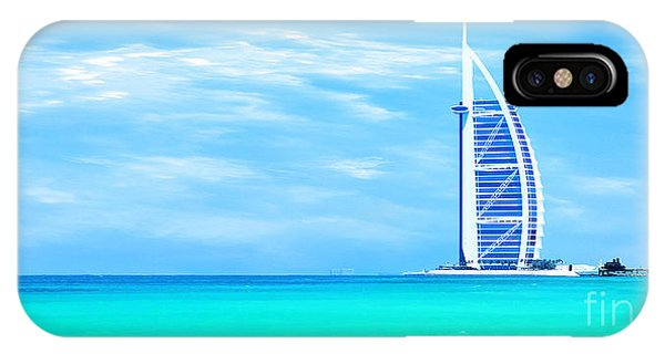 Burj Al Arab Hotel On Jumeirah Beach In Dubai IPhone Case