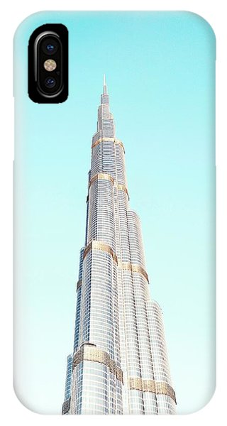 Office Buildings iPhone Case - Burj Khalifa by Happy Home Artistry